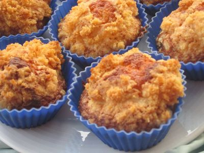 Crusty muffins with cranberries - Muffins costrados  - http://www.legumechef.com/