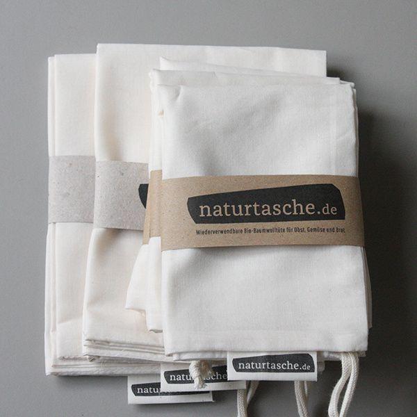 für Müllsparfüchse // 5 Naturtaschen per Post