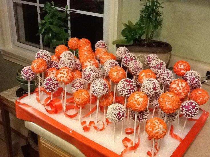 Virginia Tech Cake Pops