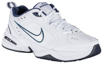 Nike Air Monarch IV Training Shoes for Men - White/Blue - 10.5 W