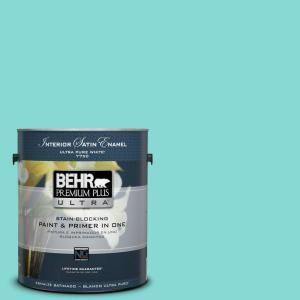 BEHR Premium Plus Ultra 1 Gal. #P450 3 Rainwater Satin Enamel Interior Paint