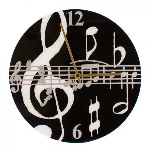 Elevenfy | Black CP10 Music Notes Clock