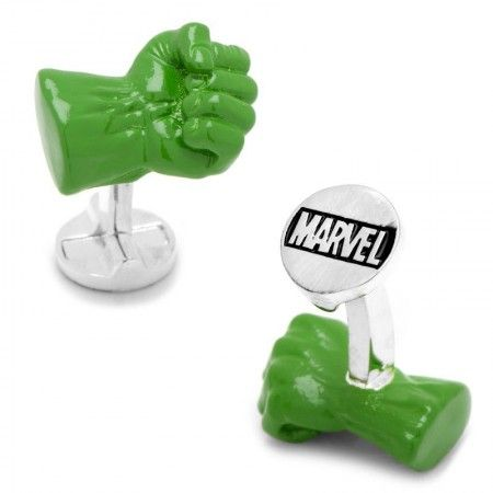 Officially licensed 3D Hulk Fist Cufflinks by Marvel. Available only at CUFFZ.com.au