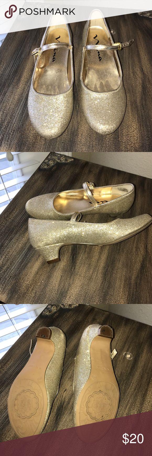 Nina gold shoes Gold Nina shoes with heel Nina Shoes Dress Shoes