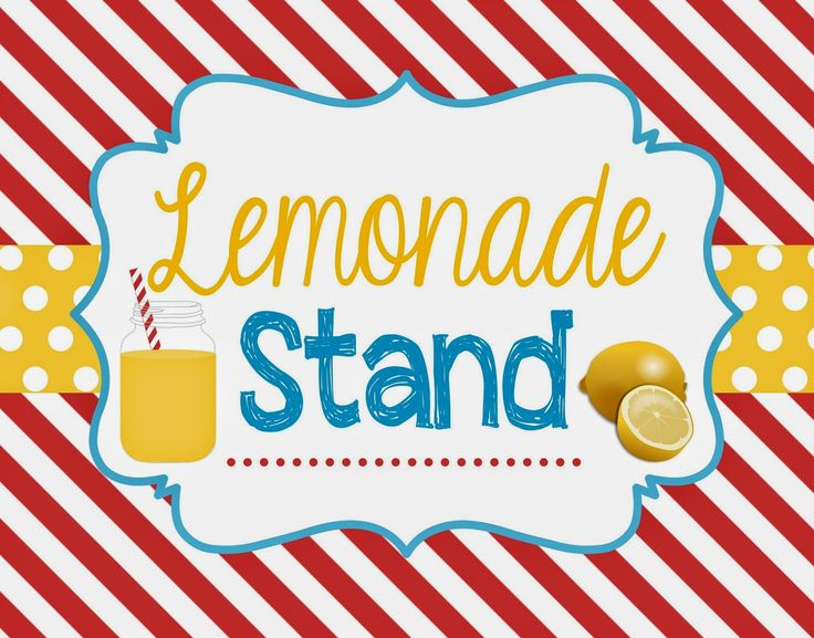 Two Magical Moms: Lemonade Stand Sign & Bunting Banner {FREE PRINTABLE}