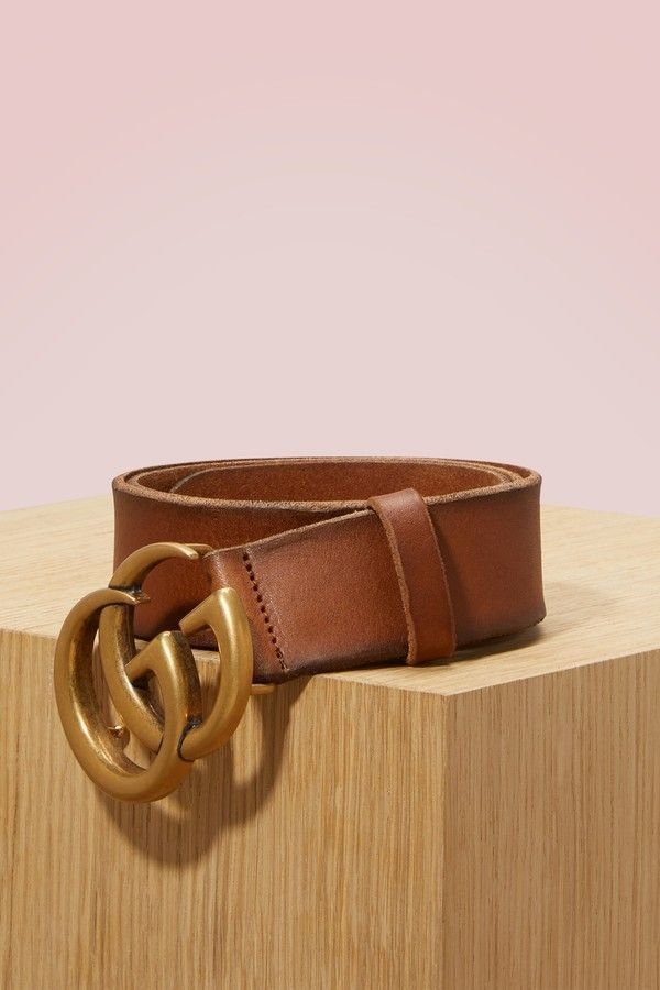 f4286d64fc8 Gucci Leather belt with double G buckle - ShopStyle - Alyssa Ashley ...
