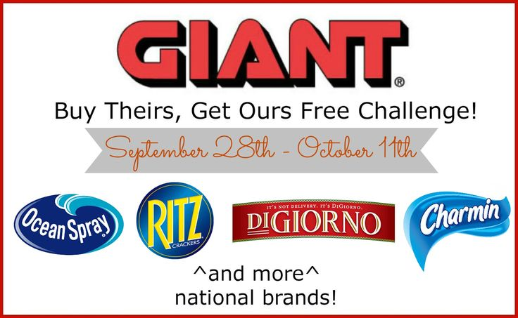 Enter To Win Housewife On a Mission: Giant Food Stores! Buy Theirs and get ours free challenge and a $25 Giant Gift Card!! FANTASTIC GIVEAWAY! Enter here http://www.housewifeonamission.com/2014/10/giant-food-stores-buy-theirs-get-ours.html For Your Chance To Win! You Know That I definitely entered!!! Thanks, Michele :)