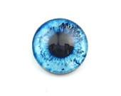 Handmade Glass Eye Cabochon, Blue, 20mm, Premium Quality: Ocean