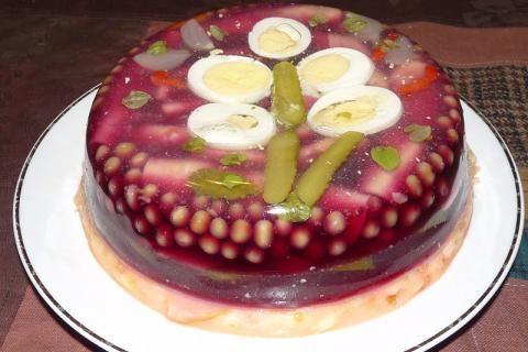 Aspikový dort: slané dorty pro muže | recept