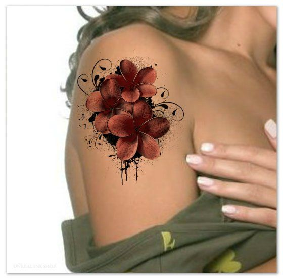 Temporary Tattoo Flower Waterproof Ultra Thin Realistic Fake