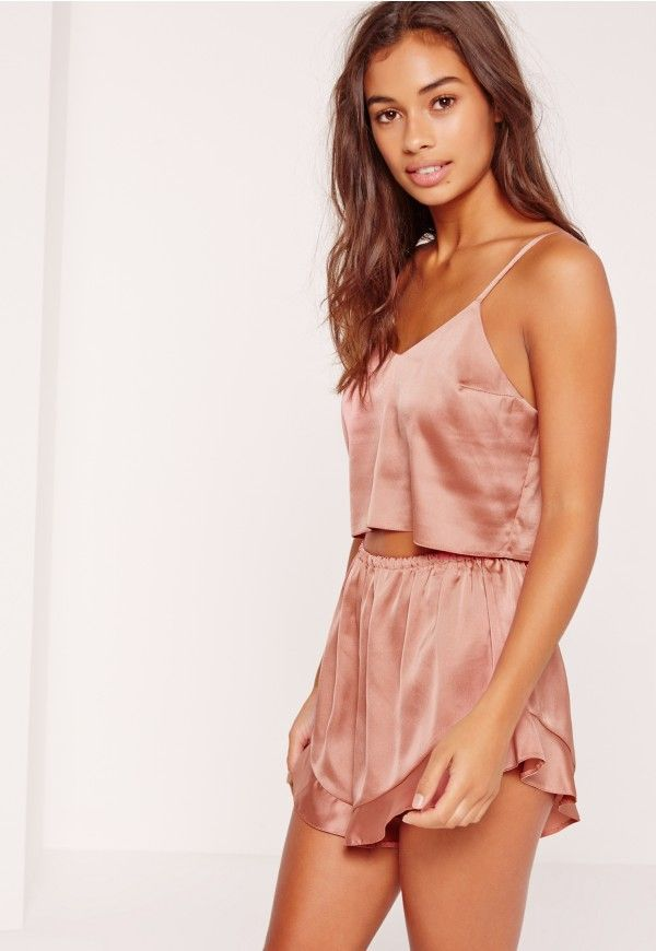 This pretty pj set with frill hem detail is almost too good to wear just in bed!
