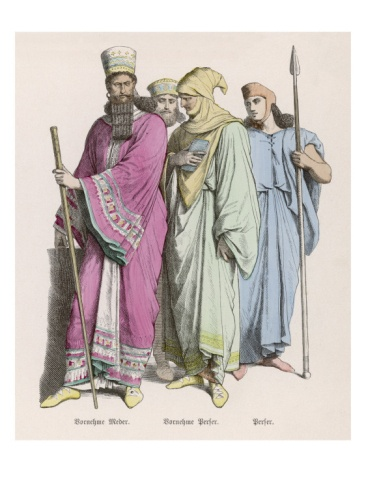 Ancient Persia Clothing Worn by Ancient Persians Giclee Print at Art.com