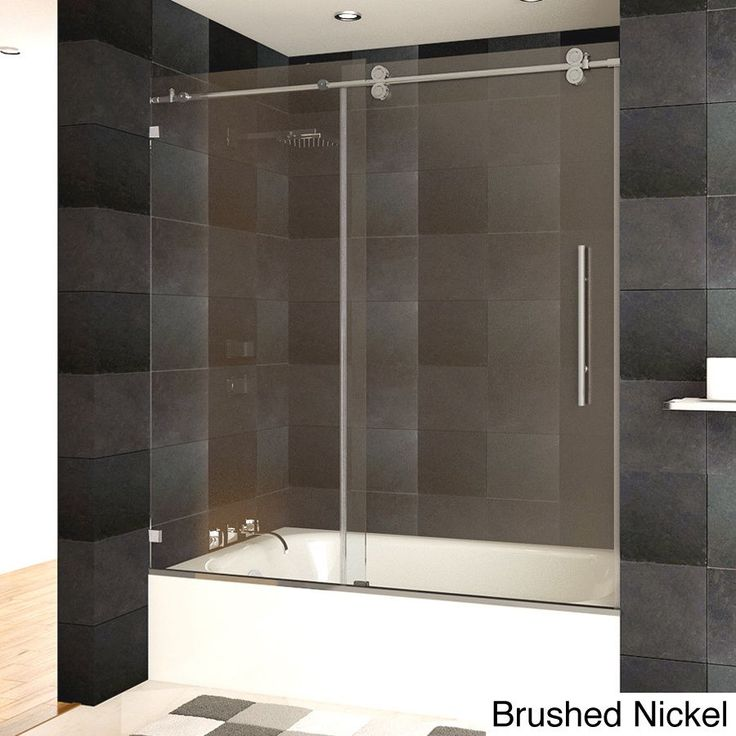 Enjoy A High Quality Addition To Your Bathroom This Tempered Glass Sliding Shower Door