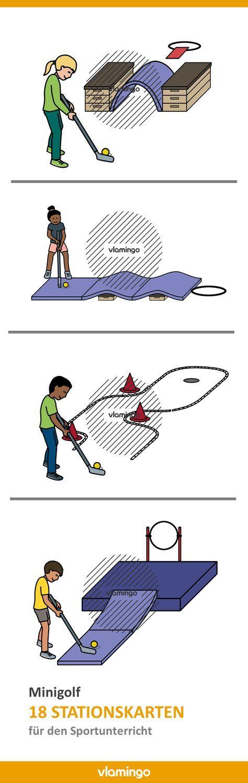 Minigolf-Stationen