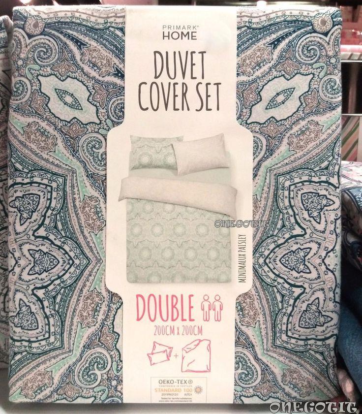 BLUE PAISLEY Single Double King Size Duvet Cover Set