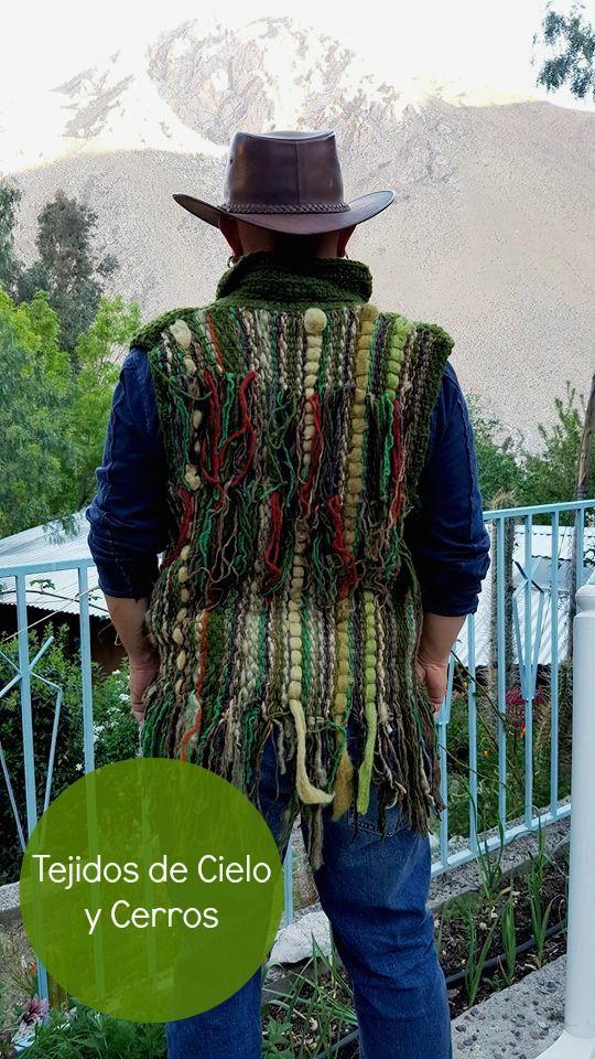 chaqueta a telar en lana de oveja