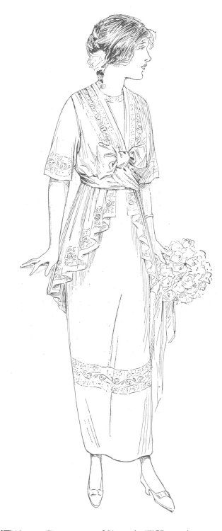 1914 Afternoon Dress Pattern Instructions