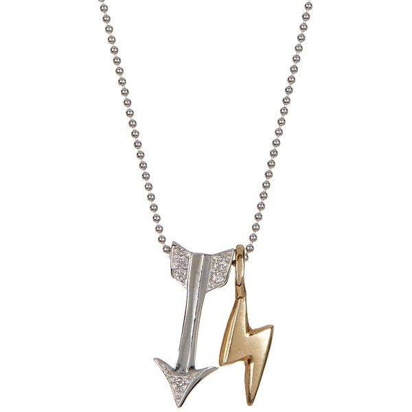 Alex Woo 14K White Gold Little Signs Diamond Arrow Pendant Necklace -... ($430) ❤ liked on Polyvore featuring jewelry, necklaces, diamond pendant necklace, diamond necklace pendant, white gold necklace, 14k diamond pendant and 14k necklace