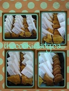 The Cookie Lady - Dog Biscuits - Specialty Items  Basket of Biscuits {18 bundles of 2 cookies = 36 cookies}