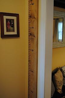 diy ruler growth chart... $10!