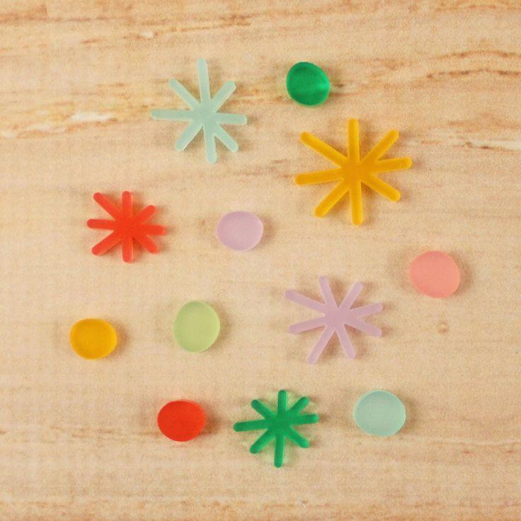 Acrylic Birthday Confetti from the Elle's Studio Happy Birthday mini collection