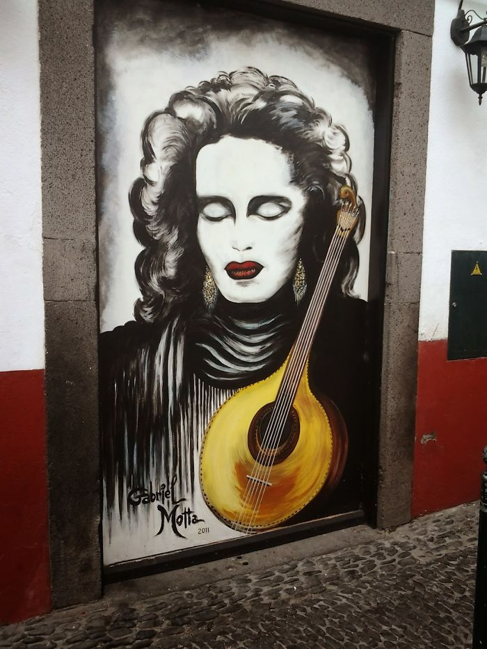 Zona Velha,#Funchal, Ilha Da Madeira, #Portugal by Gabriel Motta (depicting the best Fado singer: #Amália)