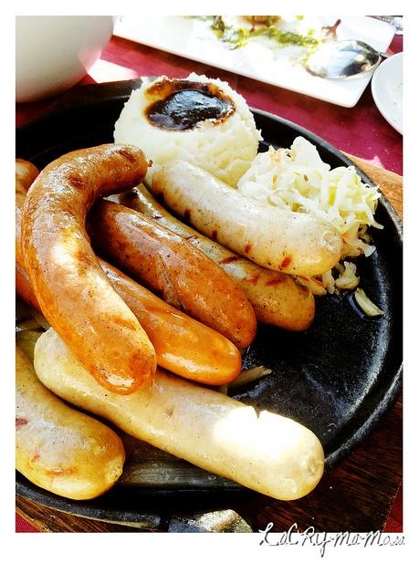 various sausages at Praha restaurant - Itaewon