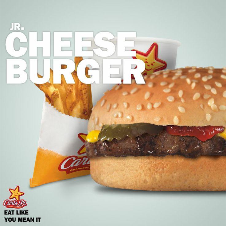 Cheese Burger yang juicy ini patut loe coba Bro, hanya Rp 31,818 dapet 1 paket small fries dan FREE FLOW drink