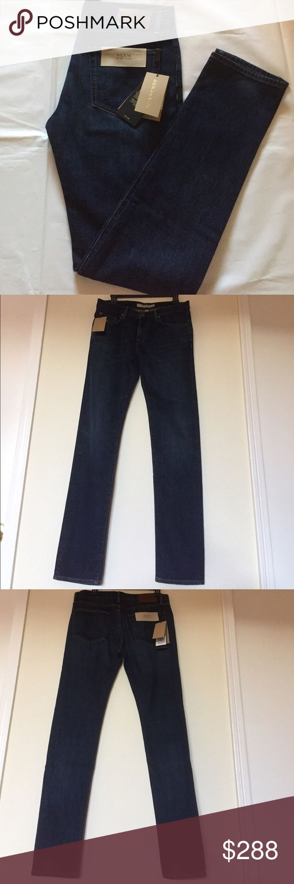 """🆕 Burberry Brit Slim Jeans Burberry Brit Men's Slim Jeans. Brand New with tags and 100% authentic! 99% Cotton 1% Elastane . Made in USA. Inseam 32.5"""", Waist ~32.5""""-33"""", front rise 9.5"""". Selvedge Denim. Burberry Jeans Slim"""