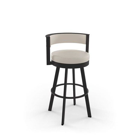 Amisco Industries Ltd Browser 26 In Textured Dark Brown Metal Swivel Counter Stool At The Home Depot Mobile