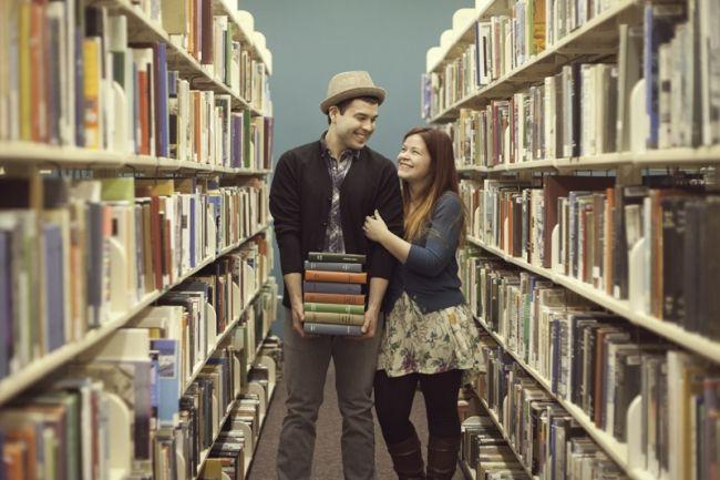 Atlanta Engagement Photographer - Krista Turner - Library Engagement (4)