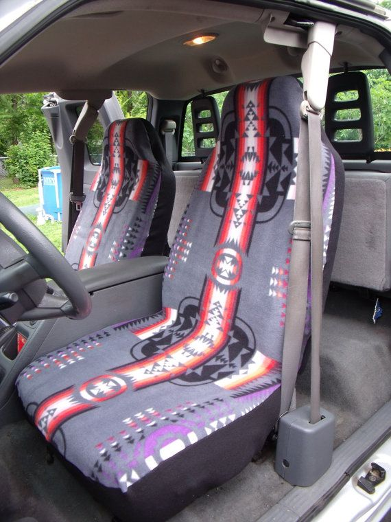 1 Set of Tribal Print  Car Seat Covers and the steering wheel cover. on Etsy, $65.00