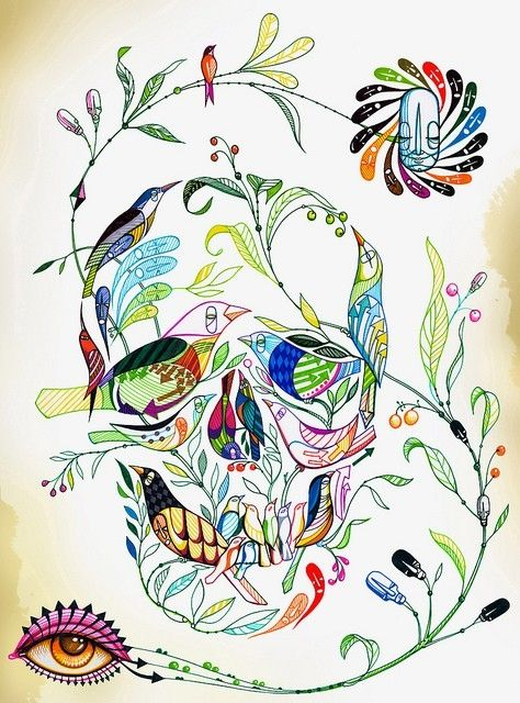I love the birds/skull part, but I'm not wild about the vines with the eye and such. I also wouldn't want the random arrows.