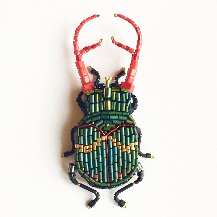 """a new hero in Collections #peresvettibug  beetle """"Celadon"""", also known as a brooch.  Embroidered handmade hematite (color celadon) and Japanese gold-plated beads on linen, plastic, brass, wood (free) all questions 89267363036 # peresvetti # bug # beetles # insectjewelry # insecto # insectcollection # novostimody feshnblogger # # # exotic accessories # bijouxlovers # etsybest # etsy # etsywholesale # insects # exhibition # glamcult # munichjewelleryweek # podruzhkinevesty art # # # current..."""