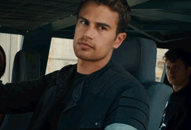 "You've decided you don't need your insides anymore, so you won't mind if they melt right out when he smiles. | 11 Reasons You Should Probably Be Dating Four From ""Allegiant"""