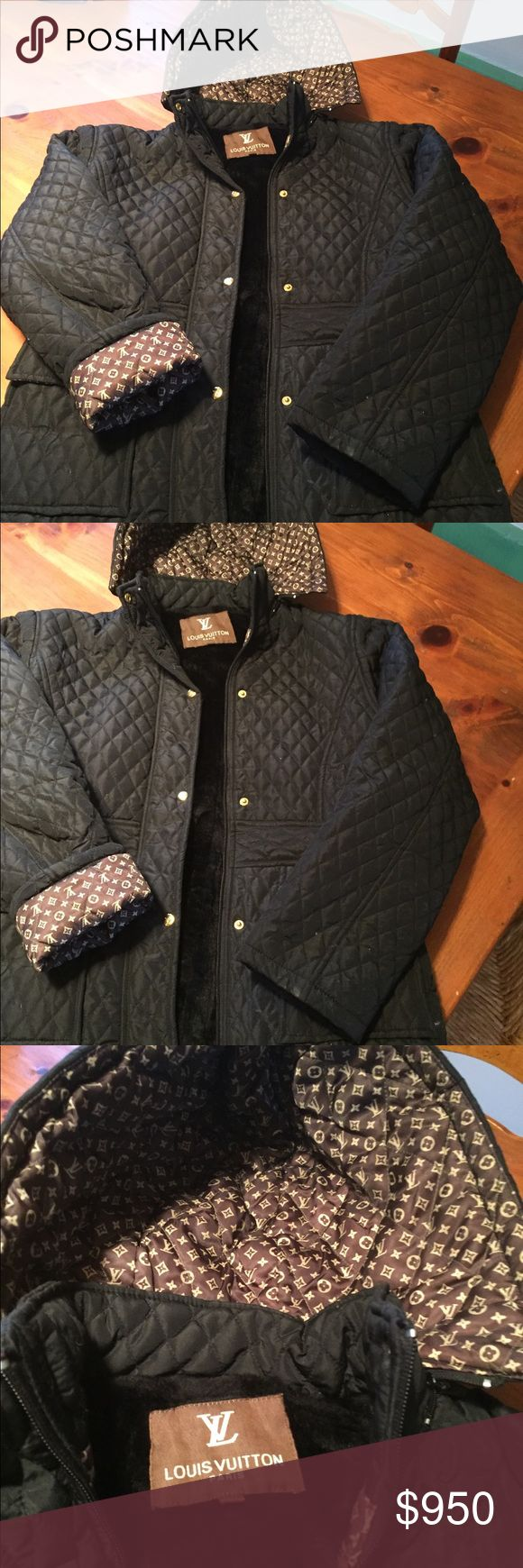 LOUIS VUITTON quilted jacket size M almost new Hi fashion