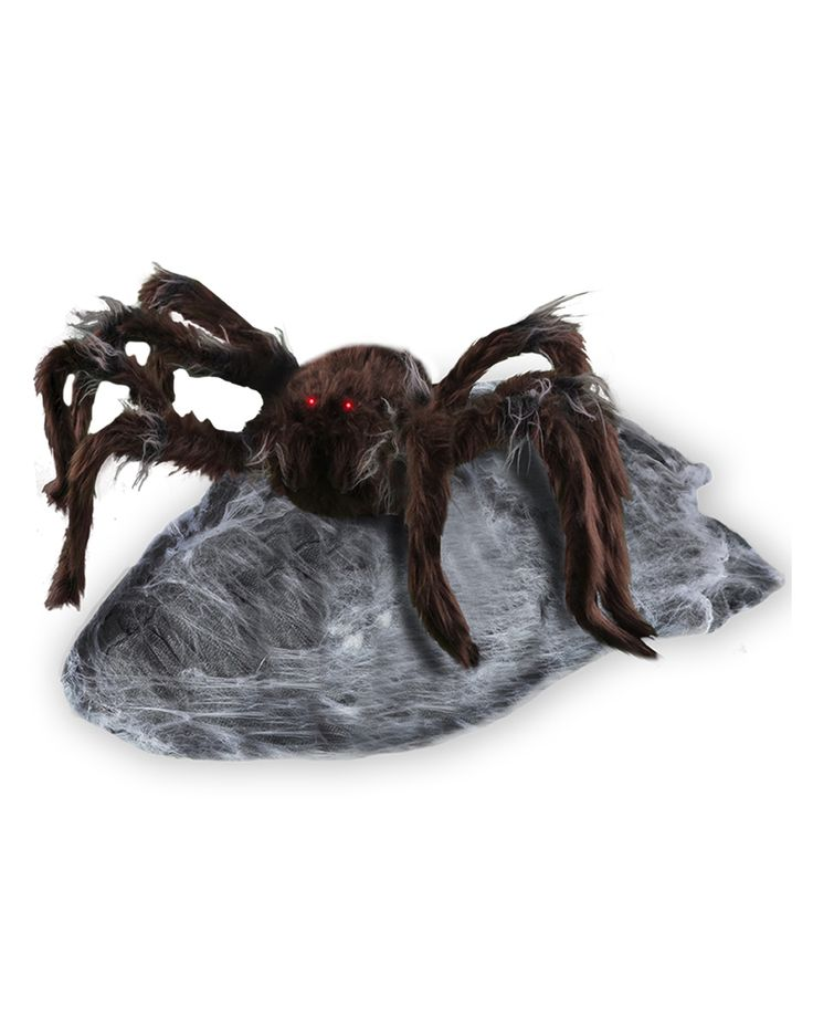 Brown jumping spider animated decoration spirit for Animated spider halloween decoration