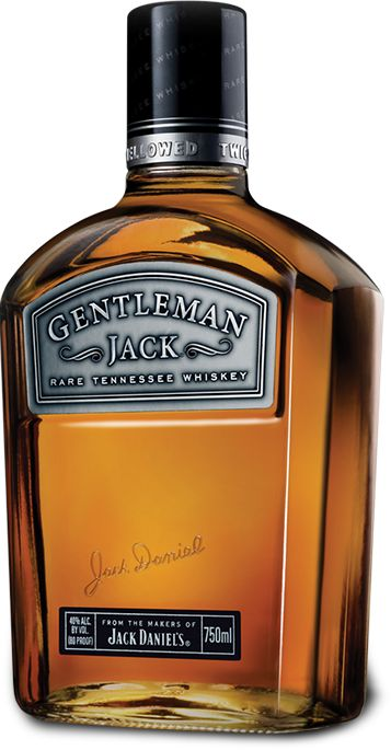 Gentleman Jack.  It's actually pretty good straight, though I usually give it the scotch treatment.  (one ice cube in a rocks glass, a thumb width of whiskey on top).
