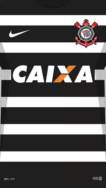 Corintians 16-17 kit away Equipamento De Futebol 475a5e5e51d21