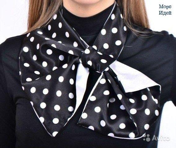 Французская косынка, франтон, шарф-трансформер.