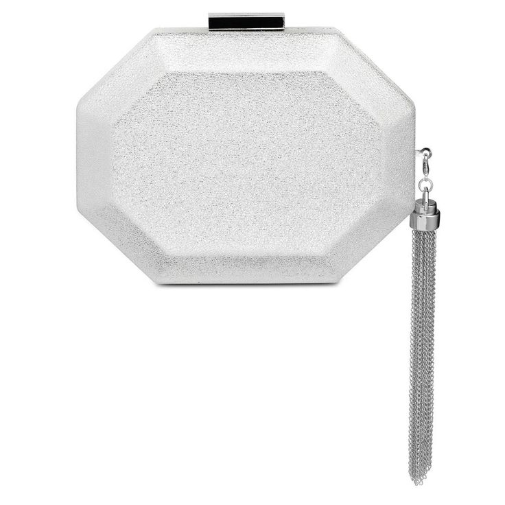 SIA Metallic Octagon Pod- RRP $99.95 - Silver - Olga Berg Handbags and Bags Online