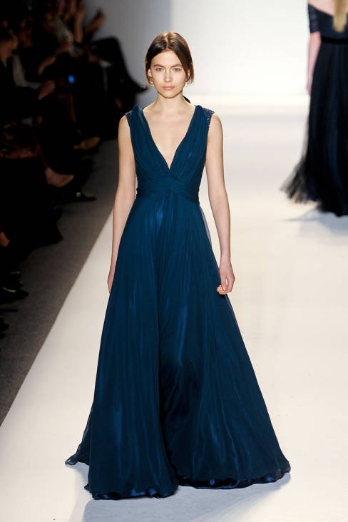 Jenny Packham Fall 2013 runway #NYFW I want my wedding dress to be this shape!