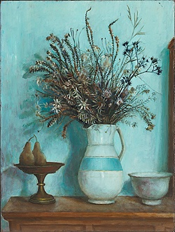 Hawkesbury Wildflowers and Pears by Margaret Olley