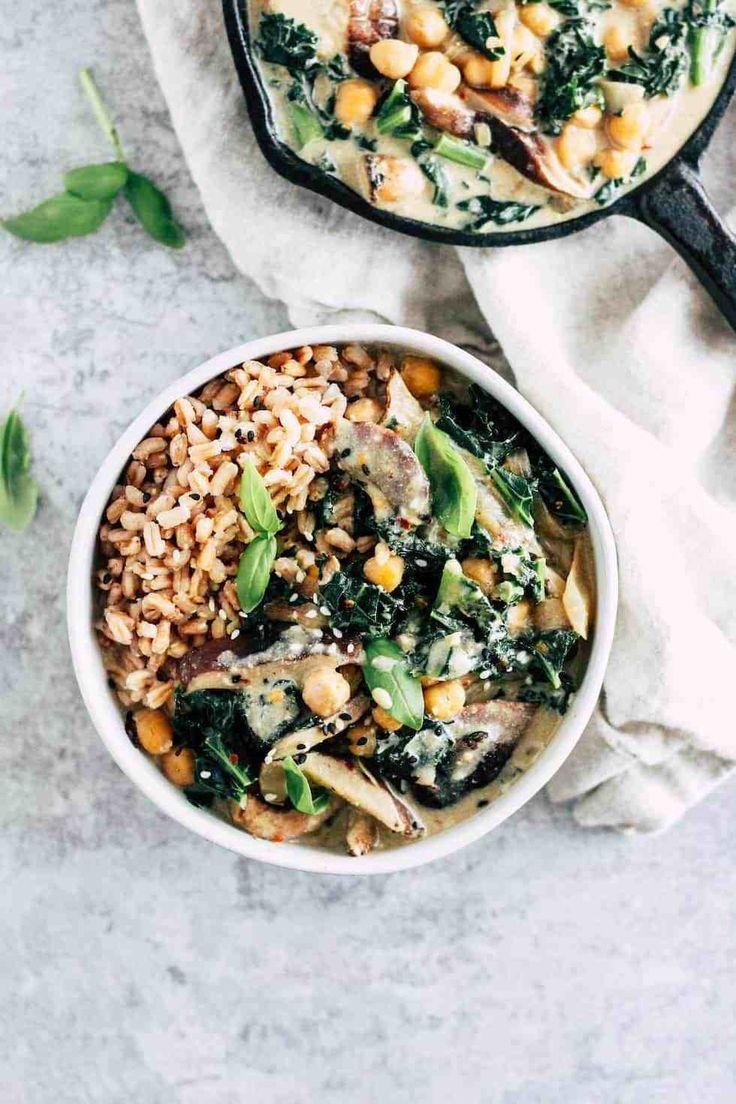 Shiitake Mushroom Bowls With Creamy Miso Sauce Recipe Vegetarian Recipes Recipes Shiitake Mushroom