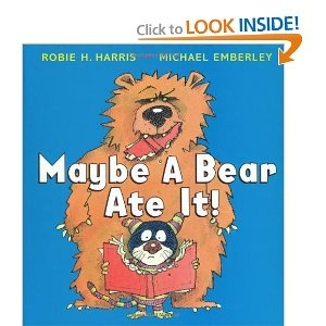 Maybe A Bear Ate It! - At bedtime, a young boy who cannot find his favorite book imagines the various creatures that might have taken it from him.
