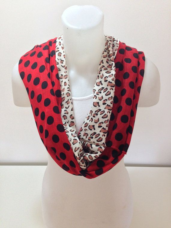 leopard and polka dots scarf