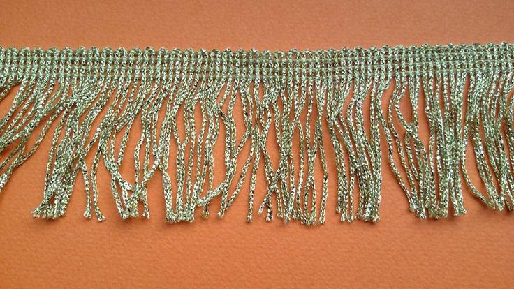 Borte Fransenborte 1 Meter weich Lurex gold und silber   Bastel- & Künstlerbedarf, Nähen, Verzierungen   eBay!