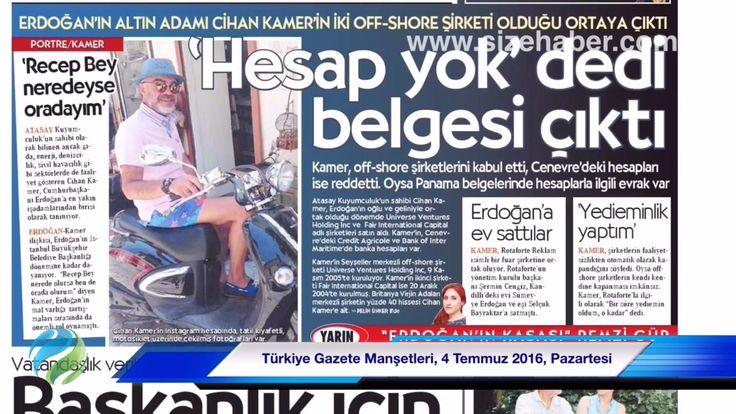 Video Haber, Türkiye Gazete Manşetleri, 4 Temmuz 2016, Pazartesi