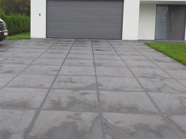 les 24 meilleures images propos de oprit beton en gras. Black Bedroom Furniture Sets. Home Design Ideas