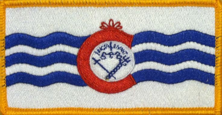 Cincinnati, Ohio FLAG Embroidered Iron-on  PATCH SOUVENIR Tactical GOLD BORDER  #FastServiceDesigns #Embroidered #Patches